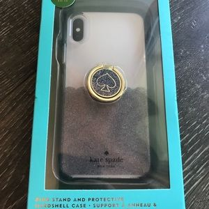 kate spade iPhone X/XS ring stand & hard case set
